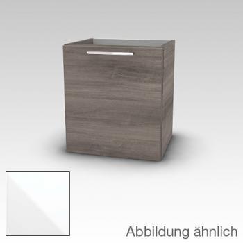 Artiqua 414 Waschtischunterschrank mit 1 Tür Front weiß hochglanz / Korpus weiß glanz