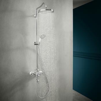 AXOR Montreux Showerpipe mit Thermostat und 1jet Kopfbrause chrom