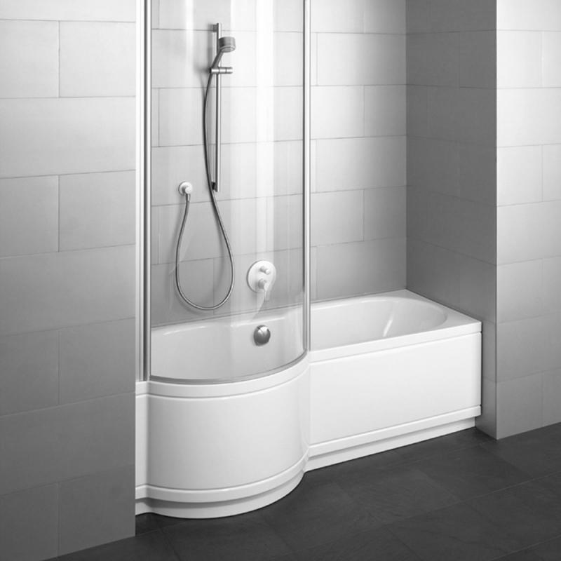 Badewanne mit duschzone komplett  Bette Cora Panel Badewanne für Nische, Duschzone links weiß - 2830 ...