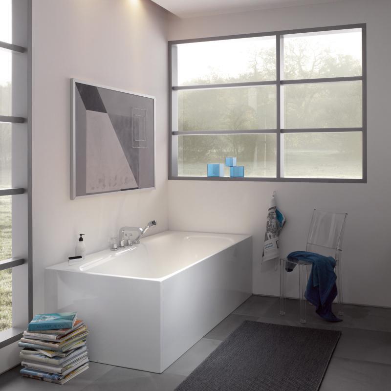 Bette Lux V Silhouette Side Badewanne Ecke Rechts Wanne Weiss