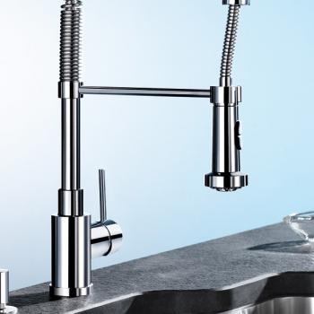 Blanco Master-S Semi-Profi Einhebelmischer, Ausladung 210 mm, Brause beweglich chrom