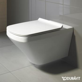 Duravit DuraStyle Wand-Tiefspül-WC rimless Set mit SoftClose WC-Sitz und Verdeckter Befestigung