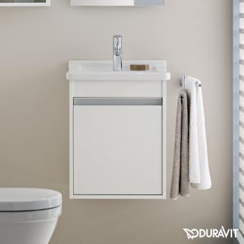 Duravit Ketho Waschtischunterschrank mit 1 Tür Front weiß matt / Korpus weiß matt