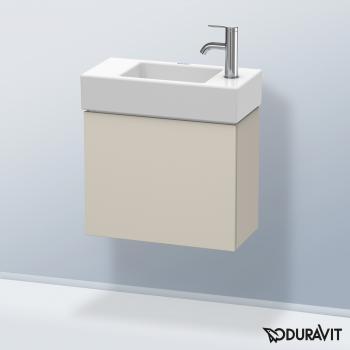 Duravit L-Cube Handwaschbeckenunterschrank mit 1 Tür Front taupe matt / Korpus taupe matt