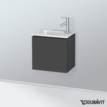 Duravit L-Cube Waschtischunterschrank mit 1 Tür Front graphit matt / Korpus graphit matt