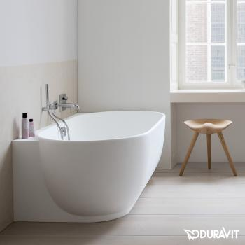 Duravit Luv Badewanne mit Verkleidung, Eckeinbau rechts ohne Wannenrandbohrung