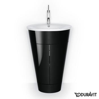 Duravit Starck 1 Waschtischunterbau stehend schwarz-hochglanz Lack