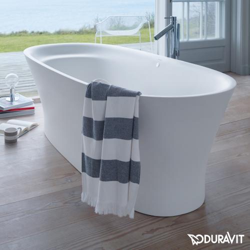 Duravit Cape Cod freistehende Oval Badewanne mit Verkleidung