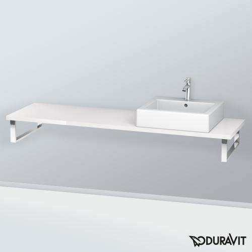 duravit l cube konsole f r 1 aufsatz einbauwaschtisch wei hochglanz lc094c02222 160. Black Bedroom Furniture Sets. Home Design Ideas