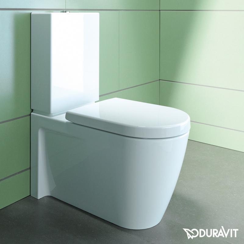 duravit starck 2 stand tiefsp l wc kombination wei mit. Black Bedroom Furniture Sets. Home Design Ideas