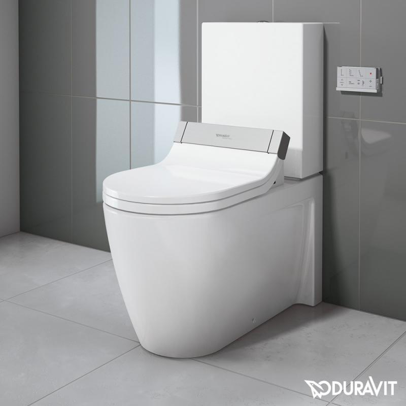 Duravit Starck 2 Stand-Tiefspül-WC Kombination mit SensoWash® Starck ...