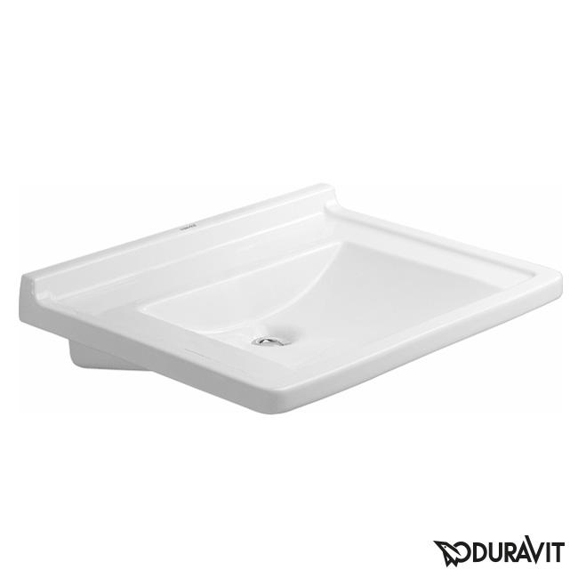 duravit starck 3 waschtisch vital med barrierefrei wei ohne hahnloch ohne berlauf. Black Bedroom Furniture Sets. Home Design Ideas