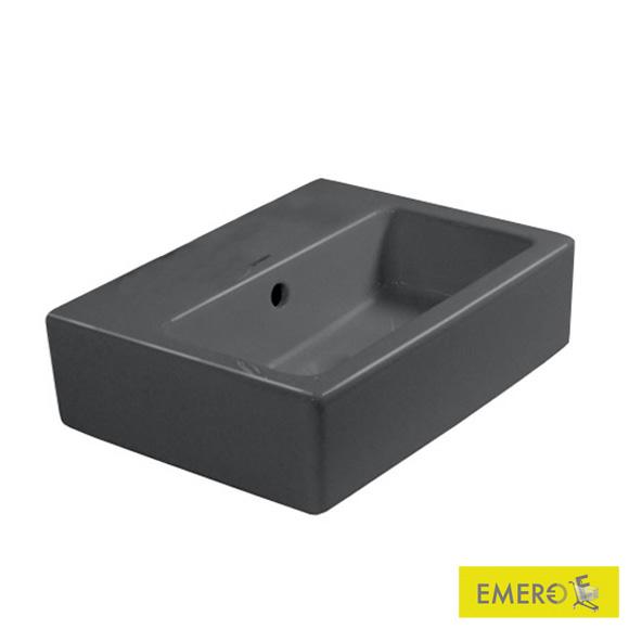 duravit vero handwaschbecken schwarz ohne hahnloch ungeschliffen mit berlauf 0704450860. Black Bedroom Furniture Sets. Home Design Ideas
