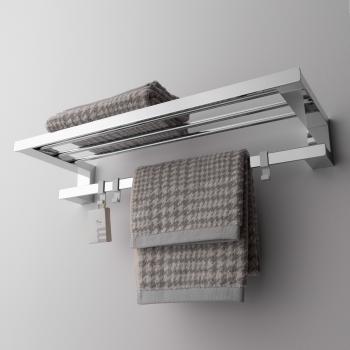 Emco Loft Handtuchablage mit Badetuchhaltermit 3 abnehmbaren Haken