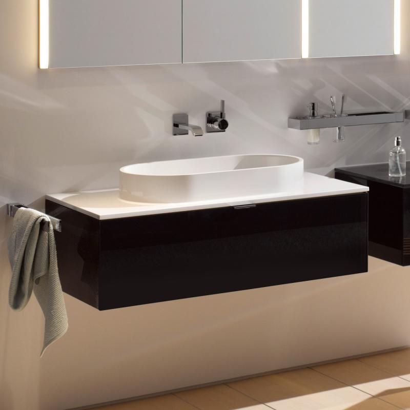 emco asis waschtisch mit schublade schwarz 958127516