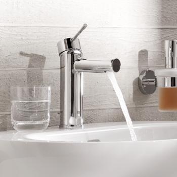 Grohe Essence Einhand-Waschtischbatterie, S-Size mit Ablaufgarnitur