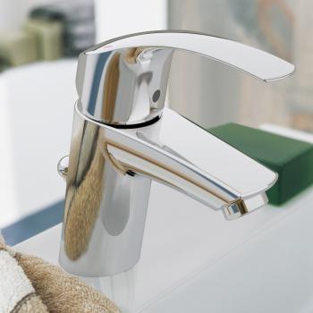 Grohe Eurosmart Einhand-Waschtischbatterie, S-Size mit Ablaufgarnitur