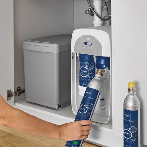 Grohe Blue Home DUO Starter Kit mit Einhand-Spültischbatterie, C-Auslauf chrom