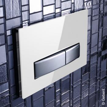 Geberit Sigma50 Betätigungsplatte für 2-Mengen-Spülung weiß/chrom gebürstet