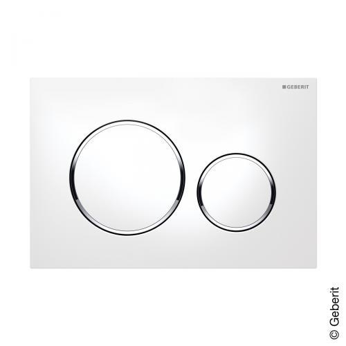 Geberit Sigma20 Betätigungsplatte für 2-Mengen-Spülung weiß/chrom hochglanz