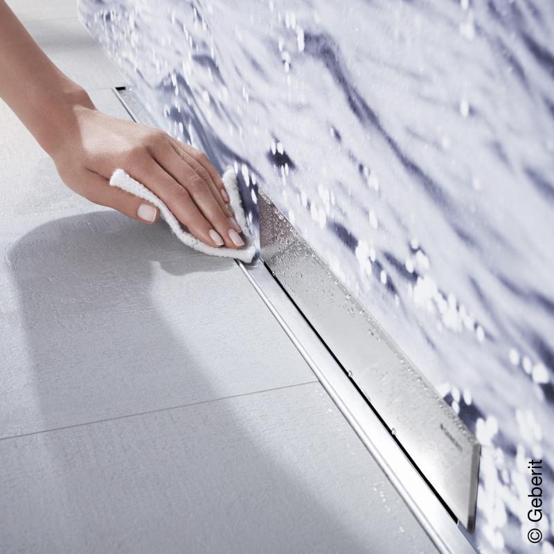 geberit kollektorprofil zu geberit wandablauf f r dusche f r duschrinne 150 cm 154341fw1. Black Bedroom Furniture Sets. Home Design Ideas