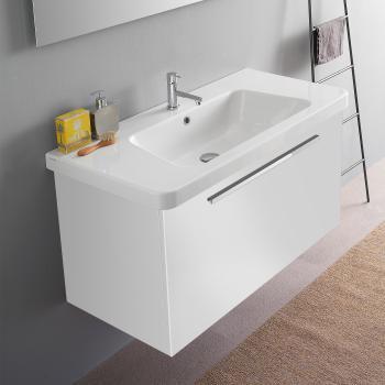 Waschtischunterschrank Weiß: Waschtischunterschrank Renova Nr. 1 ... | {Waschbecken mit unterschrank weiß 25}