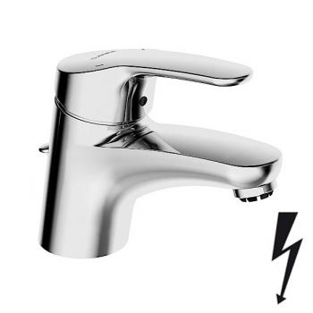 Hansa Mix Waschtisch-Einhand-Einlochbatterie, für offene Heißwasserbereiter mit Ablaufgarnitur