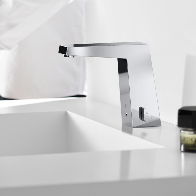 hansa loft waschtisch elektronik batterie batteriebetrieb mit push open ablaufgarnitur. Black Bedroom Furniture Sets. Home Design Ideas