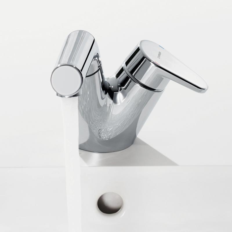 hansa signatur waschtisch einhand einlochbatterie mit schlauchbrause mit push open. Black Bedroom Furniture Sets. Home Design Ideas