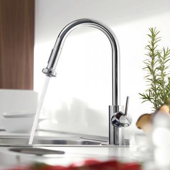 Hansgrohe Talis S² Variarc Einhebel-Küchenarmatur mit Ausziehbrause chrom