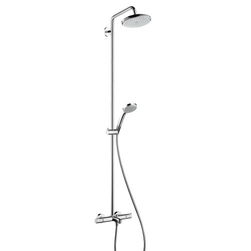 hansgrohe croma 220 air 1jet showerpipe wanne 27223000. Black Bedroom Furniture Sets. Home Design Ideas