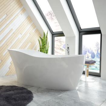 Hoesch NAMUR LOUNGE freistehende Badewanne weiß