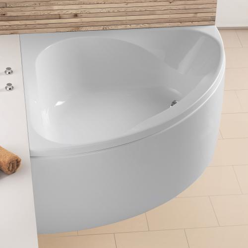 hoesch spectra eck badewanne mit sch rze wei. Black Bedroom Furniture Sets. Home Design Ideas