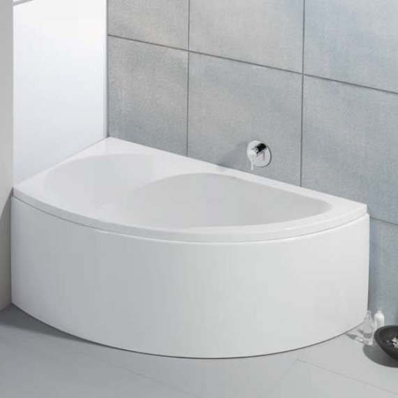 hoesch spectra eck badewanne links mit sch rze wei. Black Bedroom Furniture Sets. Home Design Ideas