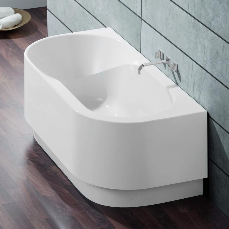 Hoesch Spectra Halbrunde Badewanne Mit Angeformter Schürze Weiß