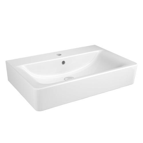 ideal standard connect cube waschtisch wei mit 1 hahnloch und berlauf e773601. Black Bedroom Furniture Sets. Home Design Ideas