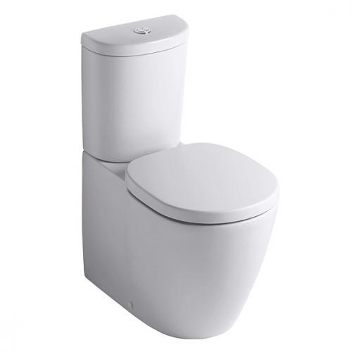 Ideal Standard Connect Standtiefspül-WC-Kombi, Abgang waager. verdeckt L: 66 B: 36 cm weiß