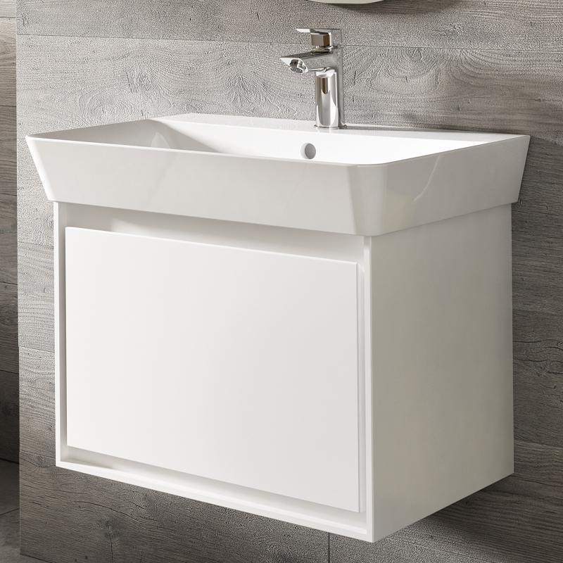 Ideal Standard Connect Air Waschtisch Unterschrank Mit 1 Auszug Weiß  Glänzend/weiß Matt ...