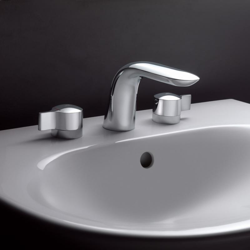 ideal standard melange 3 loch waschtischarmatur mit ablaufgarnitur a4288aa. Black Bedroom Furniture Sets. Home Design Ideas