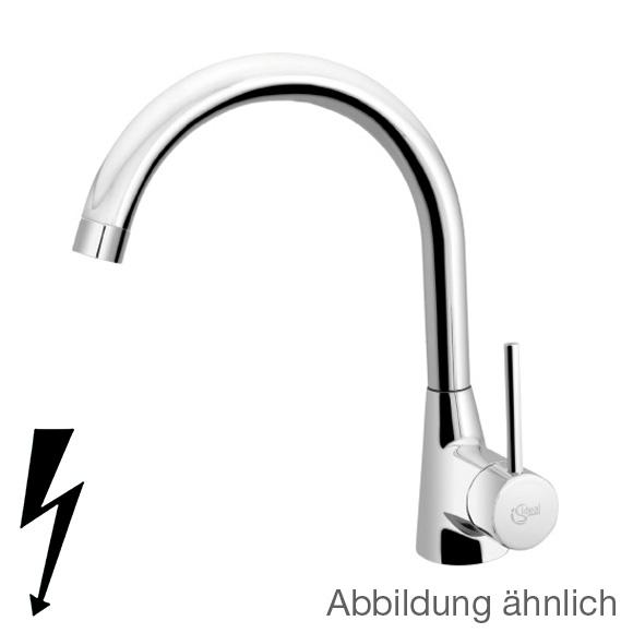 Ideal Standard Nora Einhebel-Küchenarmatur, Niederdruck edelstahl ...