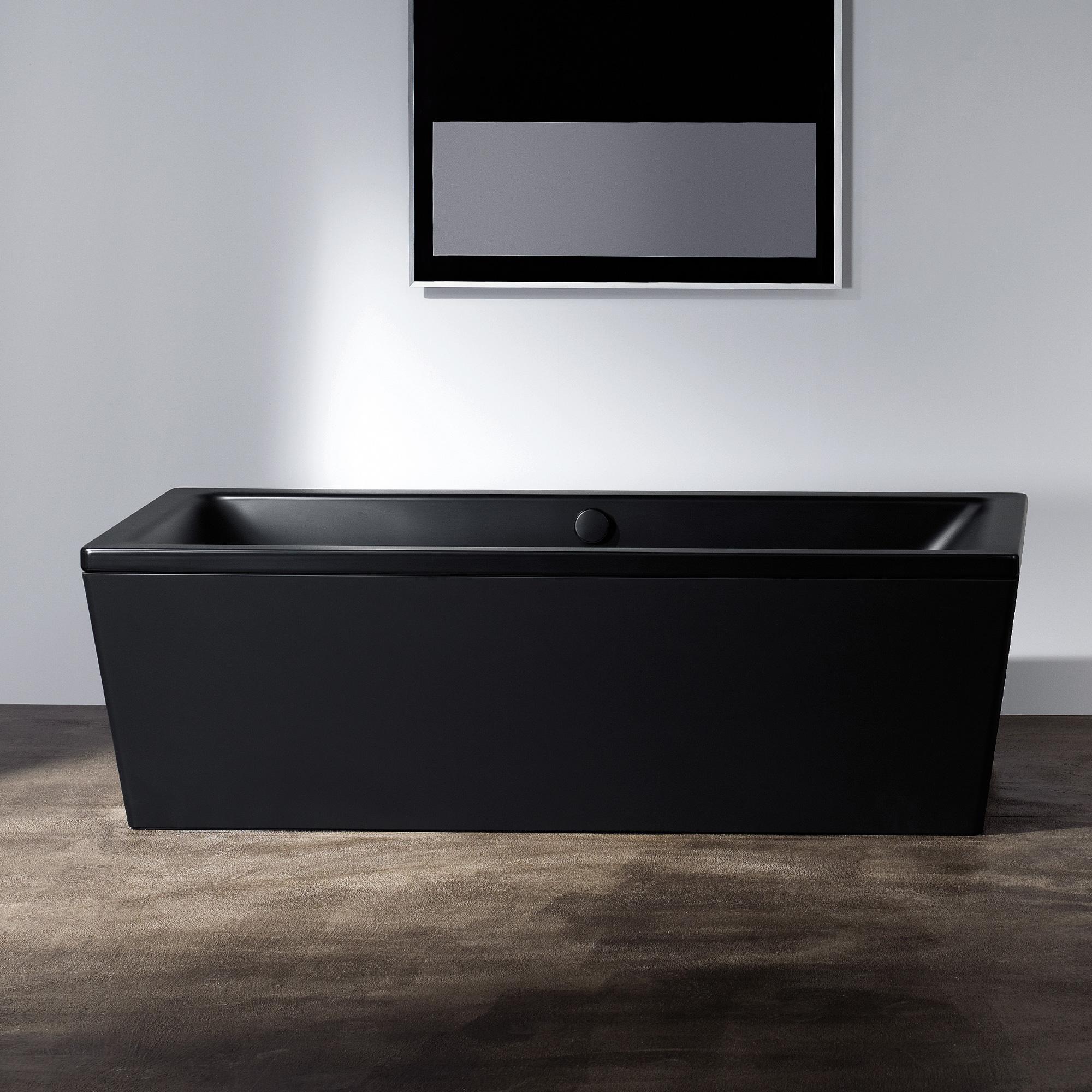 Badewanne schwarz matt schwimmbad und saunen for Sechseck badewanne stahl