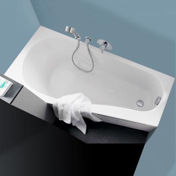 Geberit Renova Compact  Raumspar Badewanne, rechts weiß