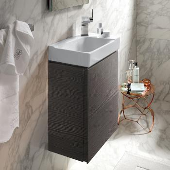 Geberit Xeno² Handwaschbecken-Unterschrank mit 1 Tür Front scultura grau/Korpus scultura grau