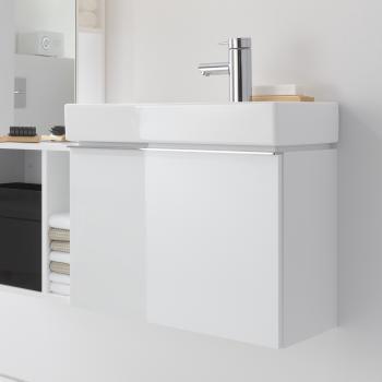 Keramag iCon xs Handwaschbecken-Unterschrank mit 1 Auszug Front und Korpus Alpin hochglanz
