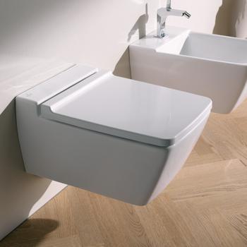 Keramag Xeno² Wand-Tiefspül-WC ohne Spülrand weiß mit KeraTect
