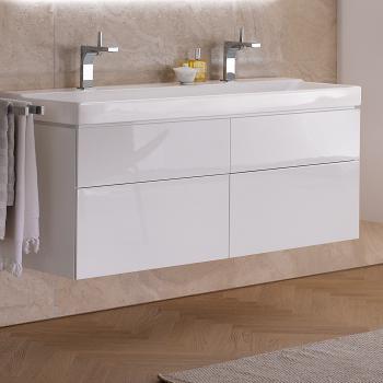 Keramag Xeno² Waschtischunterschrank mit 4 Auszügen Front weiß hochglanz/Korpus weiß hochglanz