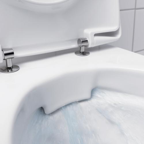 Geberit iCon Wand-Tiefspül-WC ohne Spülrand weiß mit KeraTect