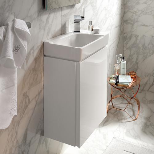 geberit xeno handwaschbecken unterschrank mit 1 t r front wei hochglanz korpus wei hochglanz