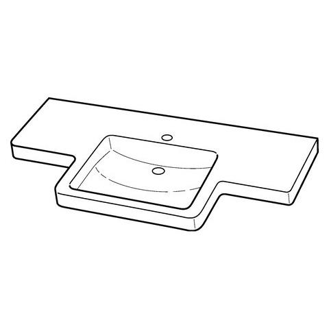 Keramag Renova Nr 1 Comfort Pro Waschtisch Unterfahrbarohne