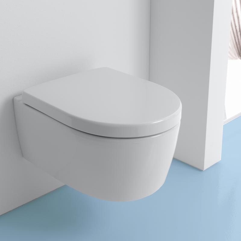 Hervorragend Keramag iCon Wand-Tiefspül-WC ohne Spülrand weiß - 204060000  ZW42